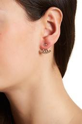 Gracie Bezel Set Crystal Jacket Earrings