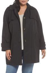 Removable Hood Rain Jacket