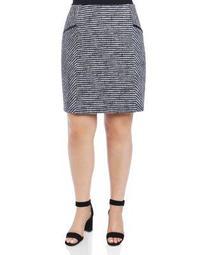 Jemma Striped Knit Pencil Skirt