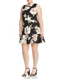 Floral Print Scuba Dress - 100% Exclusive