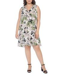 Iban Floral-Print Shift Dress