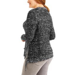 Women's Plus Split Front Sweater