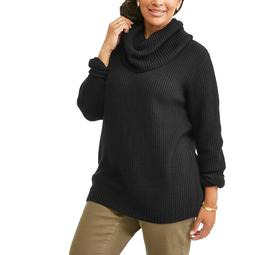 Willow and Wind Women's Plus Cowl Neck Pullover Sweater