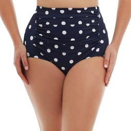 Women's Plus-Size Retro Ultra High-Waist Bikini Swimsuit Bottom