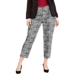 Lifestyle Attitude Women's Plus Scratch Print Pull on Ankle Pant