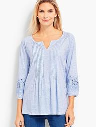 Paisley Embroidered-Sleeves Tunic
