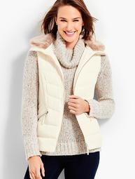 Faux-Fur Trim Down Vest