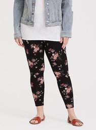 Black Floral Knit Legging