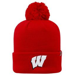 Youth Top of the World Wisconsin Badgers Tow Pom Hat