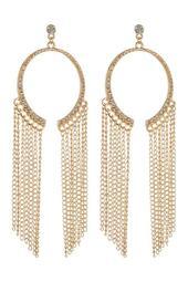 Half Ring Fringe Earrings