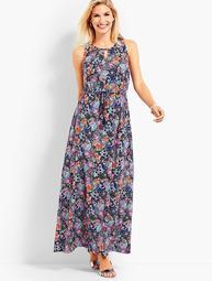 Botanical Floral Maxi Dress