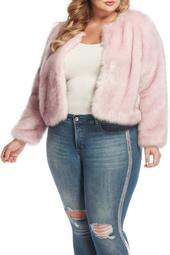 Faux Fur Jacket (Plus Size)