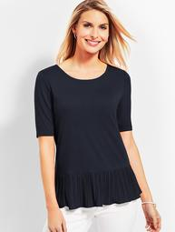 Pleated-Hem Top