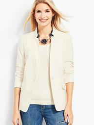 Notched-Collar Blazer - Ivory