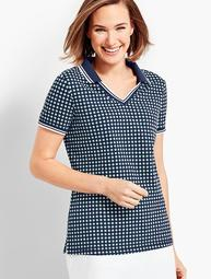 UPF 50 Beacon Dot Pique Polo Shirt