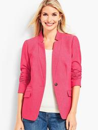 Notched-Collar Blazer - Magenta