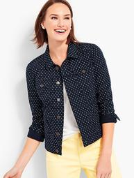 The Classic Denim Jacket-Dot Print