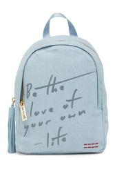 Love of Your Own Life Denim Backpack