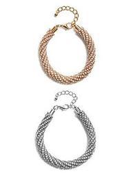 Lena Rhinestone Rope Bracelet Set