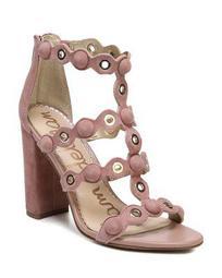 Women's Yuli Suede Grommet Block Heel Sandals