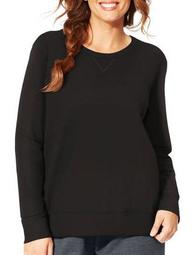 Just My Size Women's Plus-Size Fleece V-notch Sweatshirt