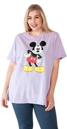 Disney Mickey Mouse Plus Size T-Shirt - Short Sleeve Purple