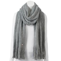 LC Lauren Conrad Brushed Knit Fringed Oblong Scarf
