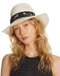 Embroidered-Trim Panama Hat - 100% Exclusive