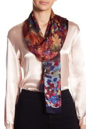 Mixed Print Silk Scarf