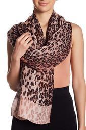 Leopard Print Silk Scarf