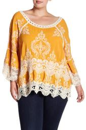 Embroidered Top (Plus Size)