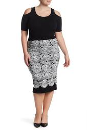 Fitted Jacquard Sweater Skirt (Plus Size)