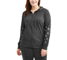 Women's Plus Star Active Hoodie Sweatshirt
