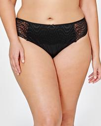 Ashley Graham Black Lace Thong