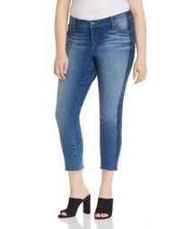Frayed Cropped Skinny Jeans in Gwen