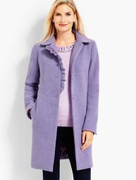 Albury Wool Ruffle Coat
