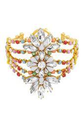 Crystal Glass Cuff Bracelet