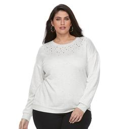 Plus Size Apt. 9® Adorned Sweatshirt