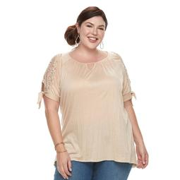 Plus Size French Laundry Crochet Top