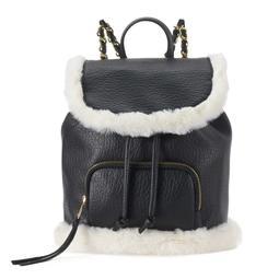 SO® Sasha Faux Fur Trim Mini Drawstring Backpack