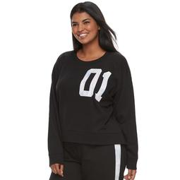 Juniors' Plus Size SO® Pajamas: Graphic Sweatshirt