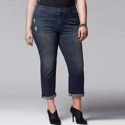Plus Size Simply Vera Vera Wang Skinny Boyfriend Jeans
