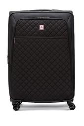 """Quilted 29"""" Expandable Spinner Suitcase"""