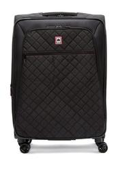 """Quilted 25"""" Expandable Spinner Suitcase"""