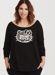 Sanrio Hello Kitty Black Leopard Sweatshirt