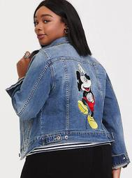 Disney Mickey Mouse Denim Jacket - Light Wash
