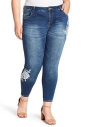 Janet Ankle Skinny Embroidered Denim (Plus Size)