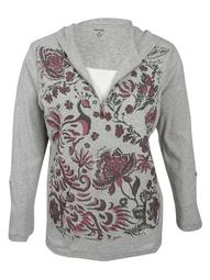 Style & Co. Women's Plus Size Printed Half-Zip Hoodie