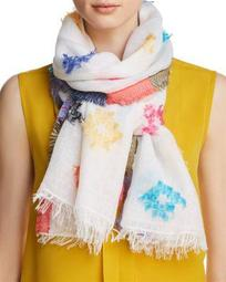 Clipped Jacquard Oblong Scarf