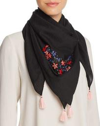 Embroidered Square Scarf